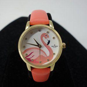 NWT Kate Spade Flamingo Watch Coral Leather RARE